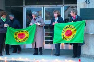 Mahnwache zur Atomkatastrophe in Japan am Rathaus Haimhausen