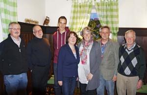 Der neue Vorstand der SPD Haimhausen (von links): Ludwig Meier, Dr. Michael Kausch, Simon Bunzel, Gabriele Kunz, Ingrid Waizmann, Heribert Widmann, Alois Hofmann.